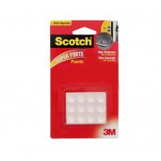 Protetor Anti-impacto Redondo Médio 12 Unidades Transparente 3m Scotch