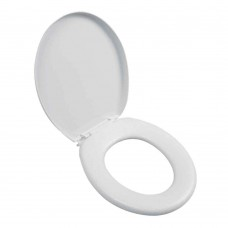 Assento Sanitário Almofadado Oval Branco Astra