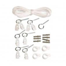 Kit Completo Para Varal Com Corda De Polietileno Branco Secalux