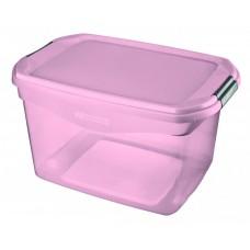 Caixa Organizadora Flex 29 Litros Rosa Sanremo