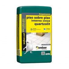 Argamassa De Uso Interno Piso Sobre Piso 20kg Cinza Quartzolit