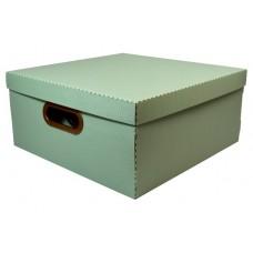 Caixa Organizadora Linho Protea Verde Larg. X Compr. Alt. 35x35x16cm Grande