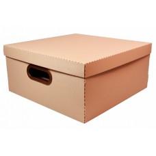 Caixa Organizadora Linho Protea Terracota Larg. X Compr. Alt. 35x35x16cm Grande