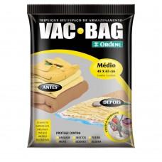 Saco Para Armazenamento à Vácuo Vac Bag Médio Transparente Ordene