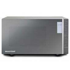 Micro-ondas Brastemp 32 Litros Cor Inox Espelhado Com Grill E Painel Integrado 110v