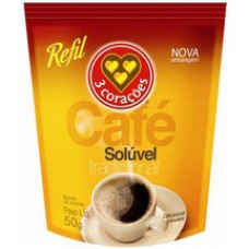 Cafe 3 Coracoes 50g Soluvel Sach.