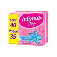 Absorvente Íntimus Days Sem Perfume Leve 40 E Pague 35