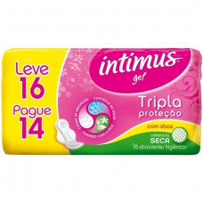 Absorvente Intimus Gel Normal C/abas L16 P14 Seca
