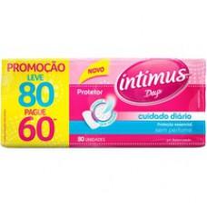 Protetor Diário Intimus Cuidado Diário S/ Perfume - 80 Unidades