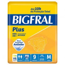 Fralda Adulta Bigfral Plus M - 9 Unidades