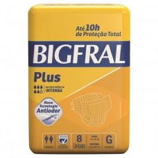 Fralda Adulta Bigfral Plus G - 8 Unidades