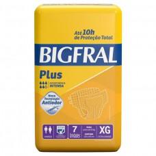 Fralda Adulta Bigfral Plus Xg - 7 Unidades
