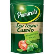 Molho Pomarola 300g Caseiro Manjericao Sachet