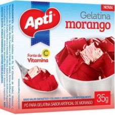 Gelatina Apti 35g Morango
