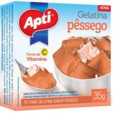 Gelatina Apti 35g Pessego
