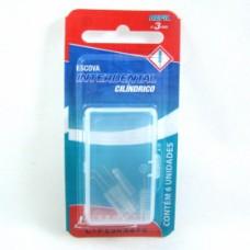 Escova Interdental Bitufo Refil Cilíndrico Com 06 Unidades Ref:165